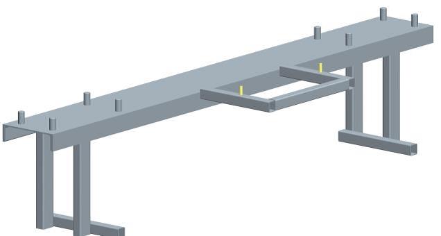 закладная  для бетонирования откатных ворот